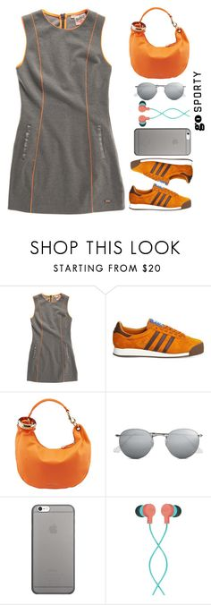 """""""Go Sporty"""" by juliehalloran on Polyvore featuring Superdry, adidas, Jimmy Choo, Ray-Ban, Native Union and The House of Marley"""