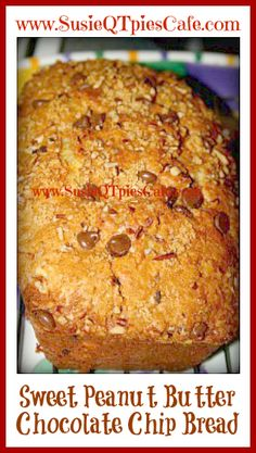 Amish Friendship Bread Starter Sweet Peanut Butter Chocolate Chip Bread from SusieQTpies Cafe