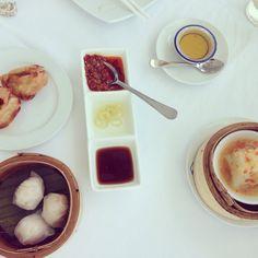 Dim sum lunch on 17th floor at Hilton White Lotus Restaurant in Hua Hin, Thailand