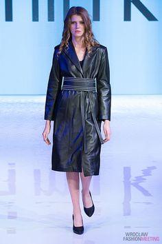Black leather trench coat fashion