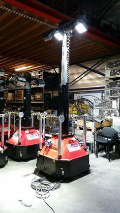 Lichtmast CTF LED 4x 150Watt met doorlus 230Volt