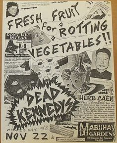 Dead Kennedys at Mabuhay Gardens, 1978 Trained Dogs For Sale, Dr. Martens, Dog Vegetables, Dead Kennedys, Punk Poster, Youth Subcultures, Music Flyer, Tour Posters, Concert Posters