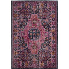 Bungalow Rose Bernice Blue/Pink Area Rug Rug Size: Runner x Alexi Blue, White Wood Floors, Ancient Persia, Cheap Carpet Runners, Floor Decor, Home Rugs, How To Clean Carpet, White Area Rug, Throw Rugs