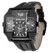 Police Herren Uhr Armbanduhr Leder Analog P13088JSB/02