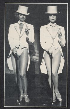 Juliet Prowse as Roxy Hart with Bebe Neuwirth as Velma Kelly in CHICAGO at Long Beach Civic Light Opera, 1992.  Production directed by Rob Marshall and choreographed by Ann Reinking.
