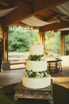 Draping in the beams by Design Productions. beautiful cake under the Pavilion at Aldridge Gardens. September 2014
