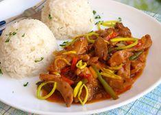 Tip na oběd nebo večeři. Králičí maso můžete nahradit kuřecím. Appetizer Recipes, Appetizers, No Cook Meals, Thai Red Curry, Food And Drink, Treats, Cooking, Ethnic Recipes, Asia