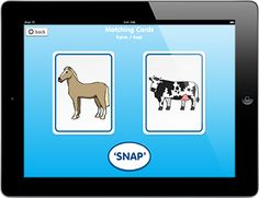 """Matching Cards: A simple """"snap"""" type game. It has been designed to offer a simple and clear display which is easy for use by children with special educational needs."""
