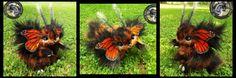 Woodsplitterlee Handmade LIFE SIZED Poseable Fantasy Monarch Bunnyfly