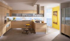 Yellow Accent Wall kitchen area