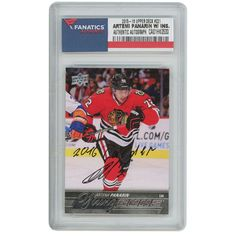 Artemi Panarin Chicago Blackhawks Autographed 2015-16 Upper Deck Young Guns Rookie #221 Card with 2016 Calder Inscription