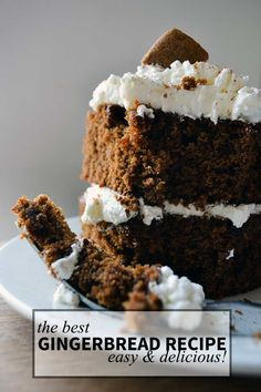 This is the BEST gingerbread recipe. Easy and delicious. If you have never made homemade gingerbread, you must try this! Also known as gingerbread cake.