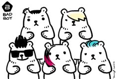 BIG BANG AS BEARS GIF CARTOON