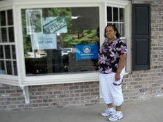 Shelia Taylor-Jones, a member of the team and the organizer/driver of the trip.