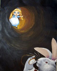 Art: Down the Rabbit Hole by Artist Nico Niemi