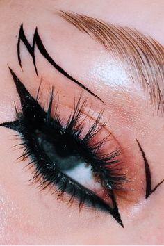 Punk Makeup, Dope Makeup, Edgy Makeup, Makeup Eye Looks, Grunge Makeup, Eye Makeup Art, No Eyeliner Makeup, Pretty Makeup, Skin Makeup