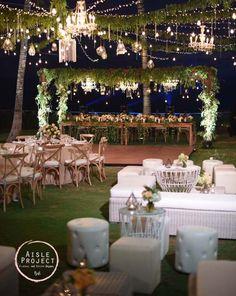 Pin by elle capone on i do i do i do pinterest wedding bridal table head table crossback chairs bali wedding with gorgeous setup lush junglespirit Choice Image