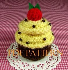 KNITTING PATTERN Cupcake Amigurumi Banana Nut by LiliaCraftParty