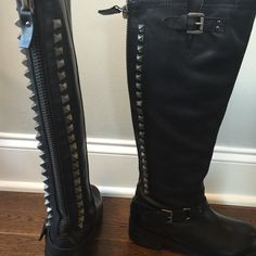Black leather boots. Size 6 1/2. Excellent condition. Only worn couple times. Shoes Winter & Rain Boots