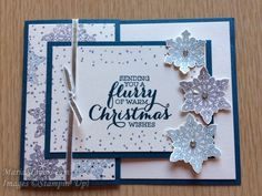 MariStamps.com  Stampin' Up!'s Flurry of Wishes Stamp Set and Snow Flurry punch