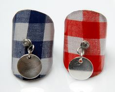 "rings ""Mum-Mum Red Blue"" Cover jam pellet silver copper"