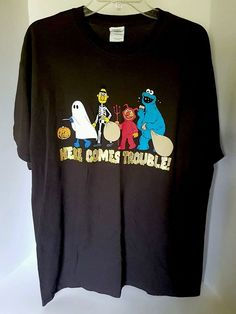 Mens Gildan Heavy Cotton Brown Halloween Trick Or Treat Graphic T-shirt Large | Clothing, Shoes & Accessories, Men's Clothing, T-Shirts | eBay!