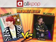 Who Wore it Better: Amber vs. Sunggyu