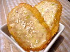 Key Lime Coconut Sable Cookies with White Chocolate Passionfruit Glaze