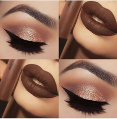 I mainly like this picture for the brown lipstick, I've been wanting a lipstick that color