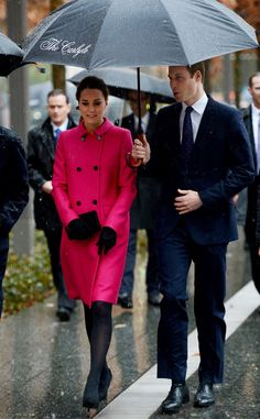 Will and Kate keep dry during their visit to the National Sept. 11 Memorial and Museum in NYC.