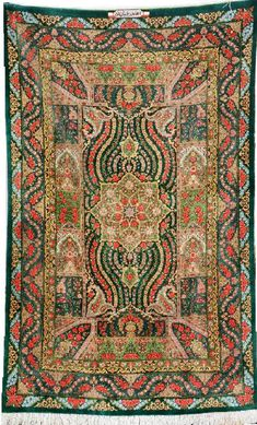 Silk Qum 'Ahmad Rajabian Fard' Rug (Signed), Persia, circa 15 years old, pure silk, approx. 160 x 101 cm