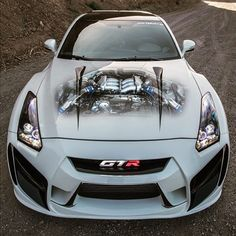 R35 GT-R....cool paint on hood image