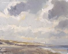 Seascape winter 19 Clouds, painting by artist Roos Schuring