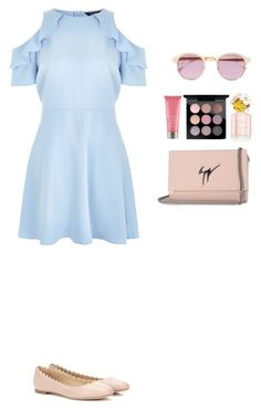 """""""Style #199"""" by maksimchuk-vika ❤ liked on Polyvore featuring New Look, Chloé, Sheriff&Cherry, Marc Jacobs, Moroccanoil, MAC Cosmetics and Giuseppe Zanotti"""