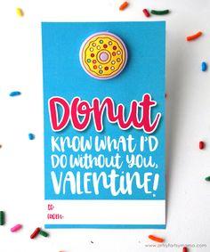 Free Printable Donut Valentines