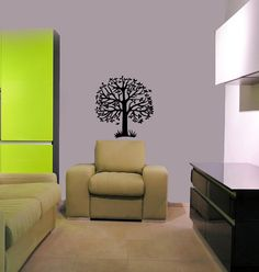 Vinyl Decals  Tree with Birds Home Wall Art Decor Removable Stylish Sticker Mural L59 Unique Design for Any Room