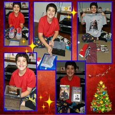 My son was very excited to get all that he wanted for Christmas!