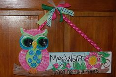 Hand painted personalized teacher's gift.  via Etsy.