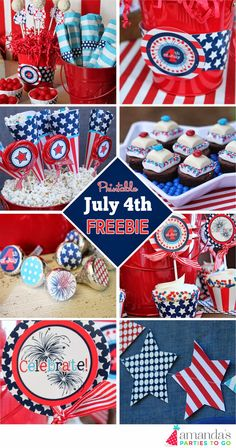 FREE July 4th Printables! Amanda's Parties TO GO