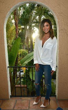 Jessica Szohr Button Down Shirt