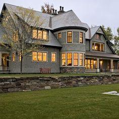 Shingle style home in Hanover NH - traditional - exterior - burlington - Smith & Vansant Architects PC