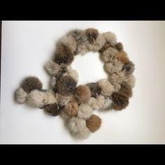 "Genuine Rabbit Fur Pom Pom Scarf Genuine Rabbit Fur Pom Pom Scarf for sale! Length 44"", Excellent condition. Heavenly feeling :) Accessories Scarves & Wraps"