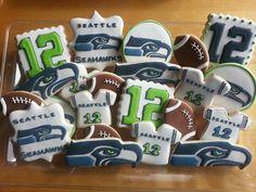 Seattle Seahawks cookies by Dyan
