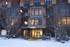 Portland OR February 2014  rare snowstorm The Vaux Condominiums