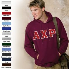 Greek Hooded Sweatshirt with Greek Letters
