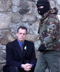 Unapologetic: Mr Kelly, pictured next to an IRA member at a republican event, has refused to say sorry for his role in the Maze prison break.It was our pleasure and honor to meet this man in West Belfast years ago, and I am proud that we did. Northern Ireland Troubles, Belfast Northern Ireland, Bobby Sands, Irish Independence, Irish Republican Army, Shooting Guard, Michael Collins, Irish Sea, Living On The Edge