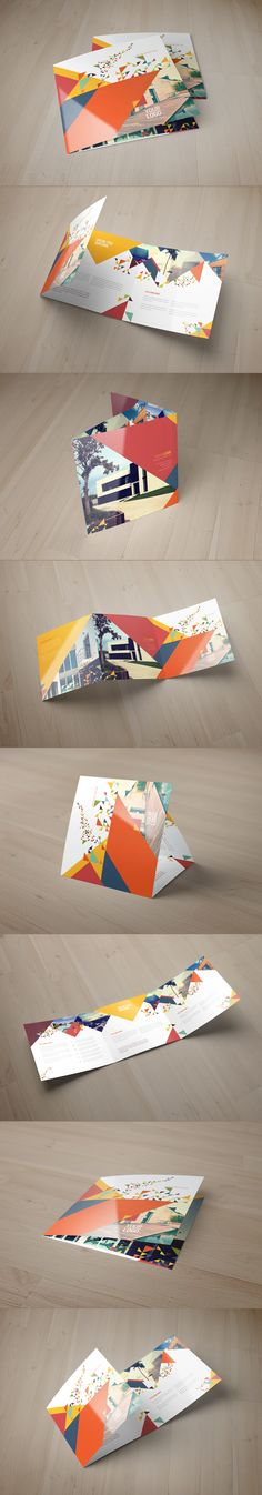 Square Colorful Modern Trifold. Download here: http://graphicriver.net/item/square-colorful-modern-trifold/8511778?ref=abradesign #brochure #trifold #design