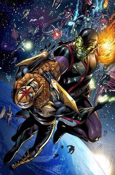 """marvel comics: """" kl'rt """" - super skrull ...... !!!!"""
