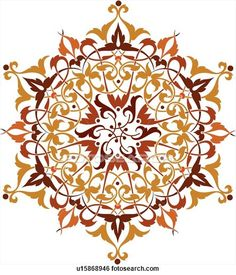 Burgundy, orange and red leaf pattern Design Ornament View Large Clip Art Graphic Islamic Motifs, Persian Motifs, Islamic Patterns, Islamic Art, Geometric Patterns, Geometric Shapes, Fleur Design, Motif Design, Pattern Design
