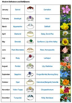 August+Birth+Month+Flower | Birth stones and birth flowers - Kiwi Families
